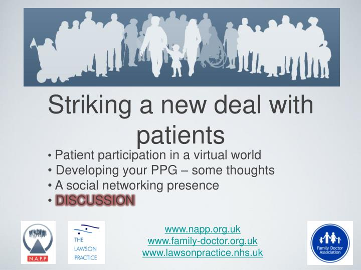 workshop 4 striking a new deal with patients