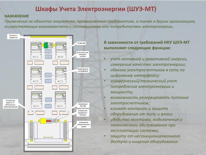 Шкафы Учета Электроэнергии (ШУЭ-МТ)