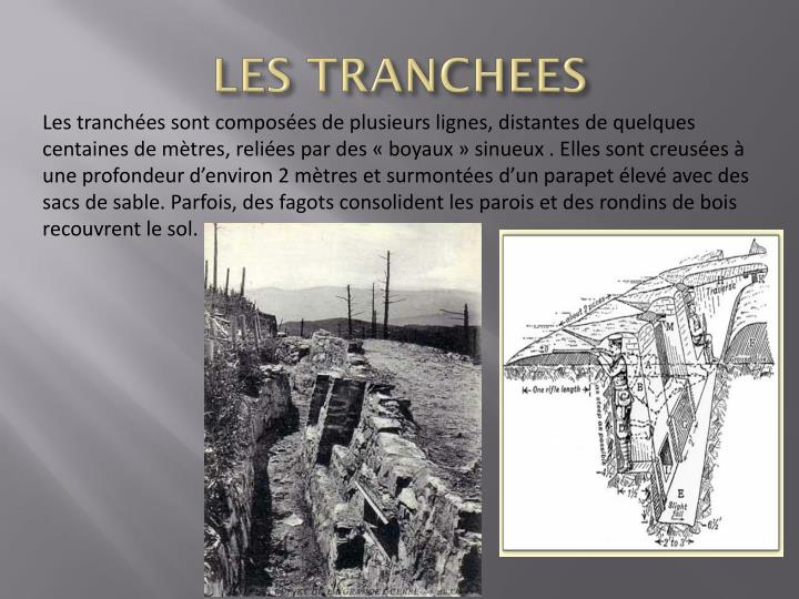 LES TRANCHEES