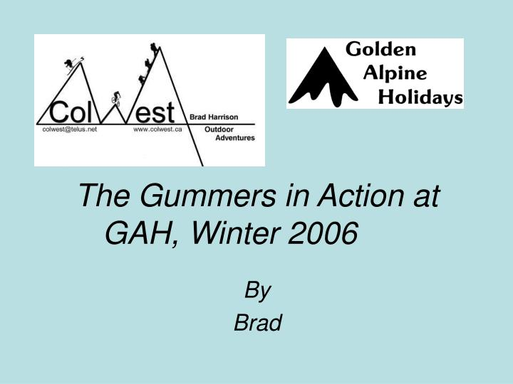 The Gummers in Action at GAH, Winter 2006