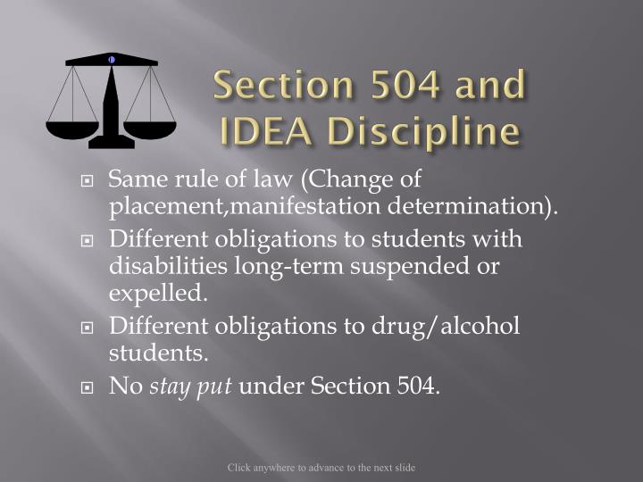 Section 504 and