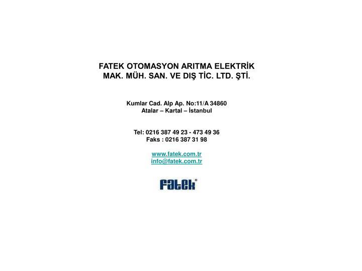 FATEK OTOMASYON ARITMA ELEKTRİK