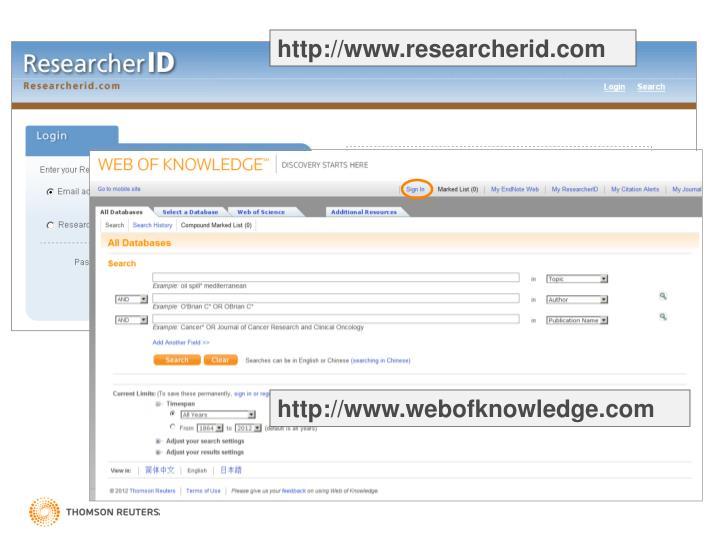 http://www.researcherid.com