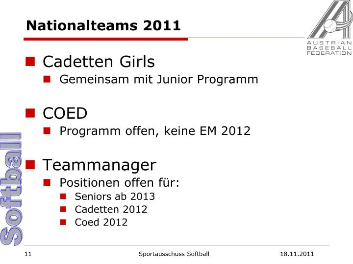 Nationalteams 2011
