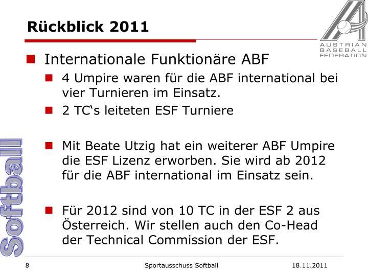 Rückblick 2011