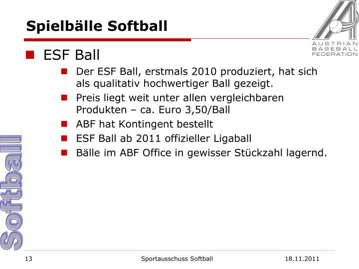 Spielbälle Softball