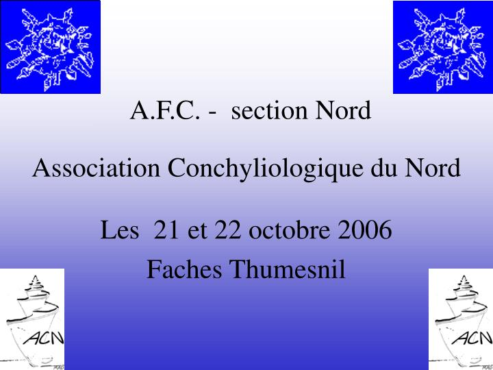A f c section nord