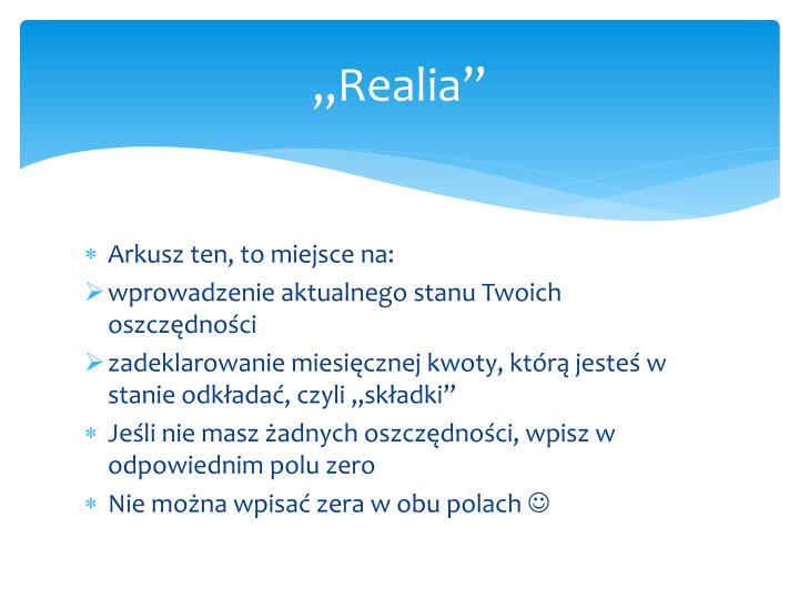"""Realia"""