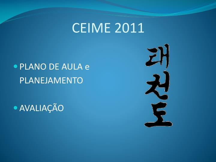 CEIME 2011