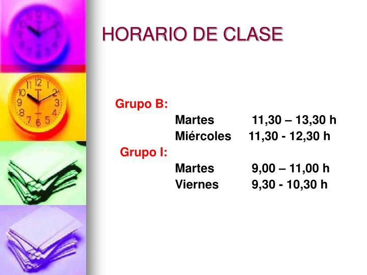 HORARIO DE CLASE