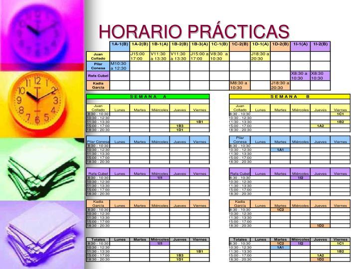 HORARIO PRÁCTICAS