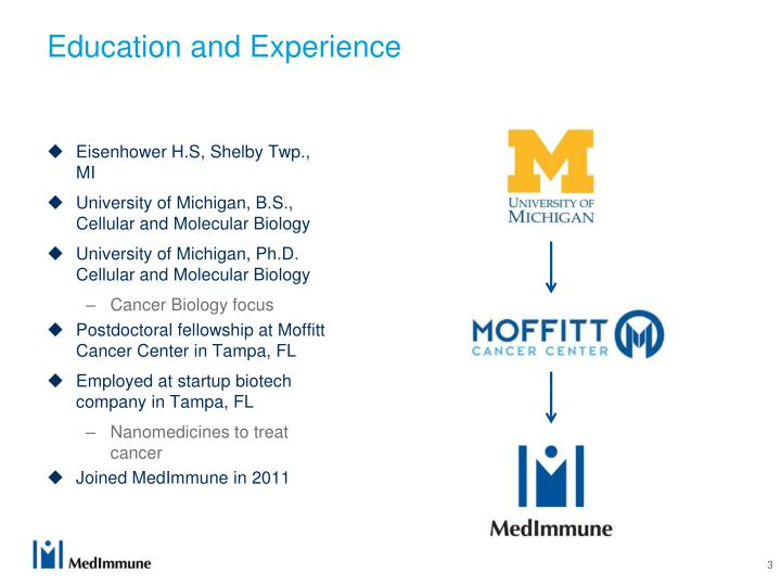 Education and Experience