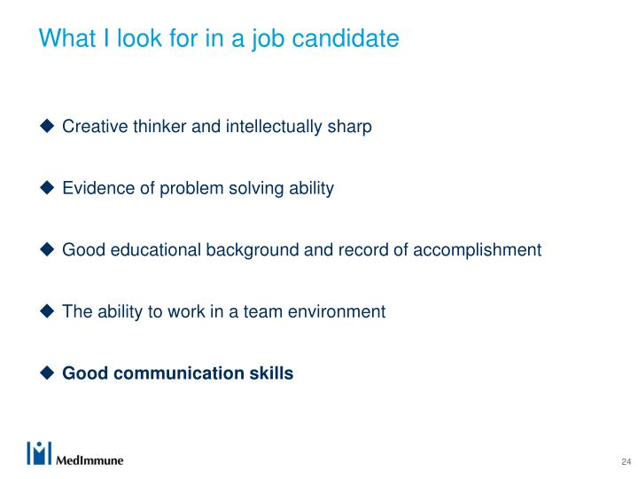 What I look for in a job candidate
