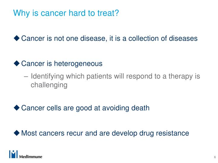 Why is cancer hard to treat?