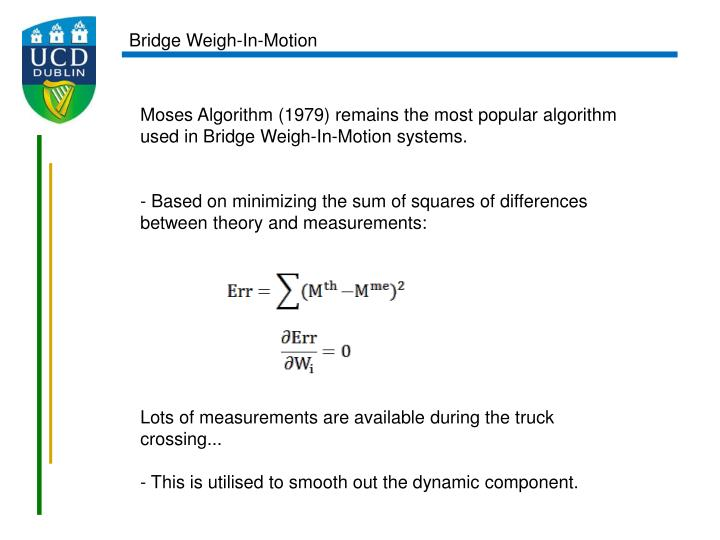 Bridge Weigh-In-Motion