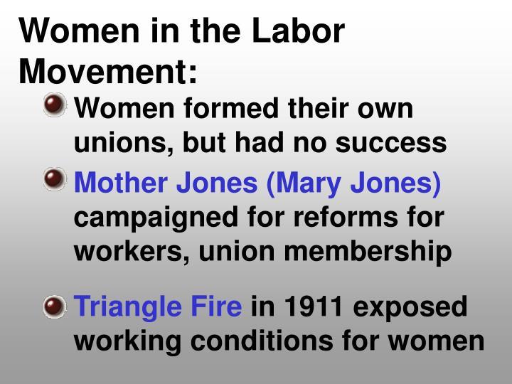 Women in the Labor Movement:
