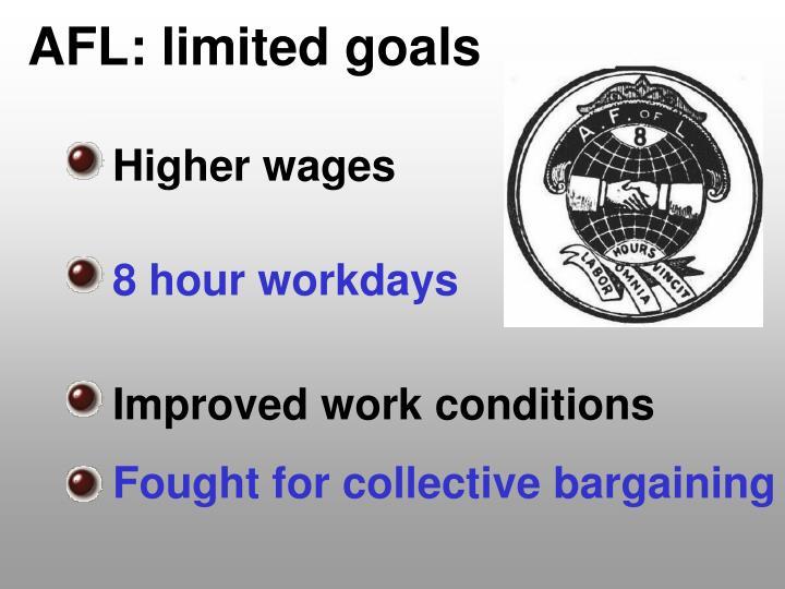 AFL: limited goals