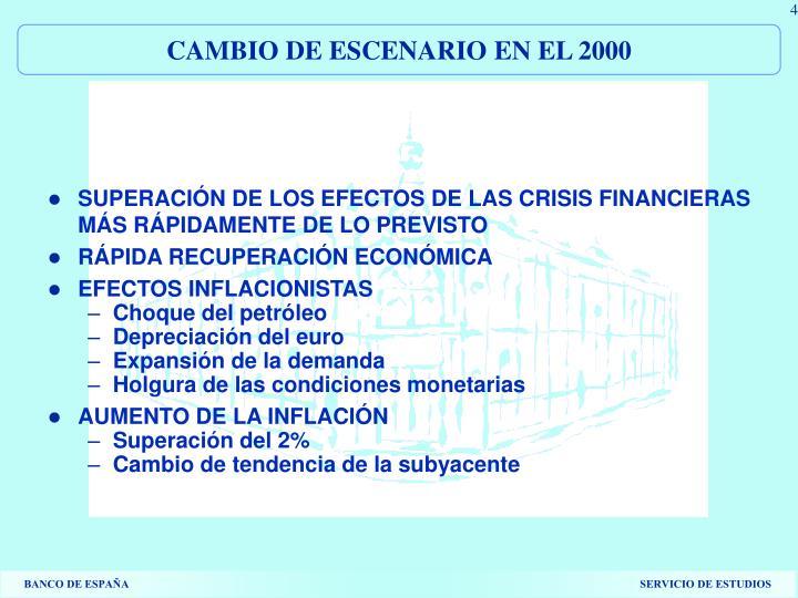 CAMBIO DE ESCENARIO EN EL 2000
