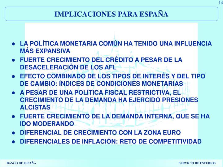 IMPLICACIONES PARA ESPAÑA