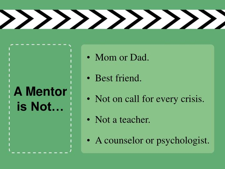 A Mentor is Not…
