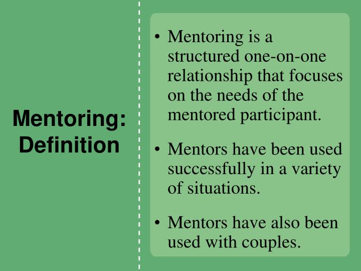 Mentoring: Definition