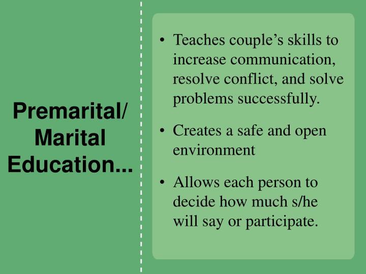 Premarital/Marital Education...