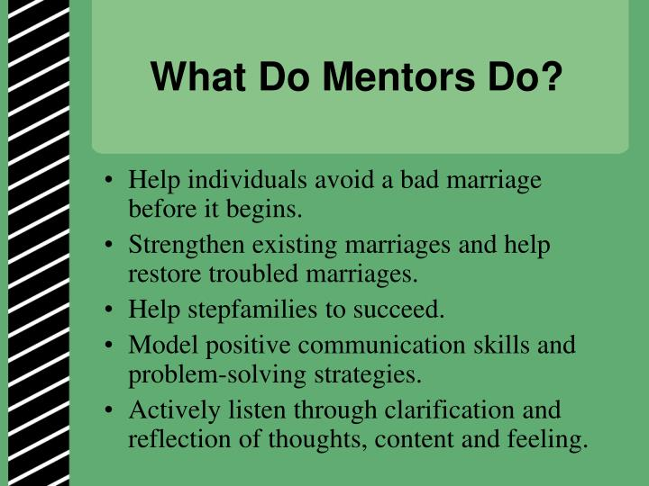 What Do Mentors Do?