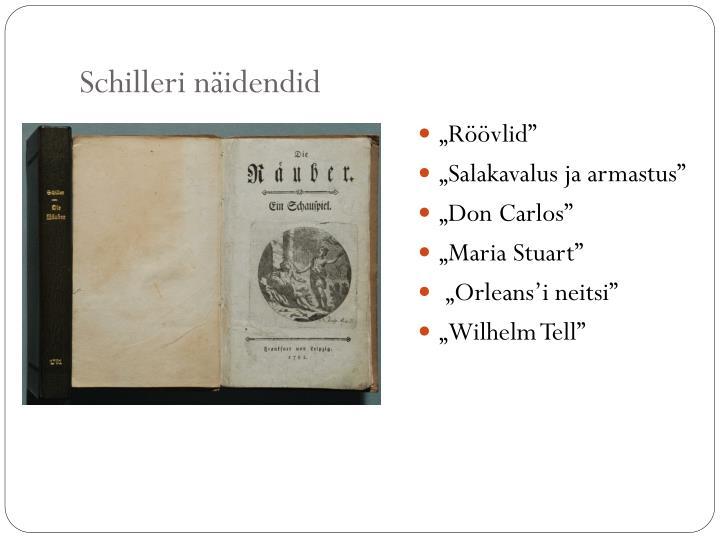 Schilleri näidendid