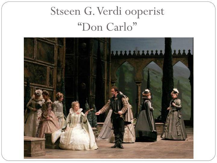 Stseen G. Verdi ooperist