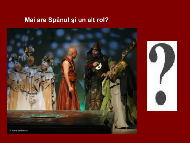 Mai are Spnul i un alt rol?