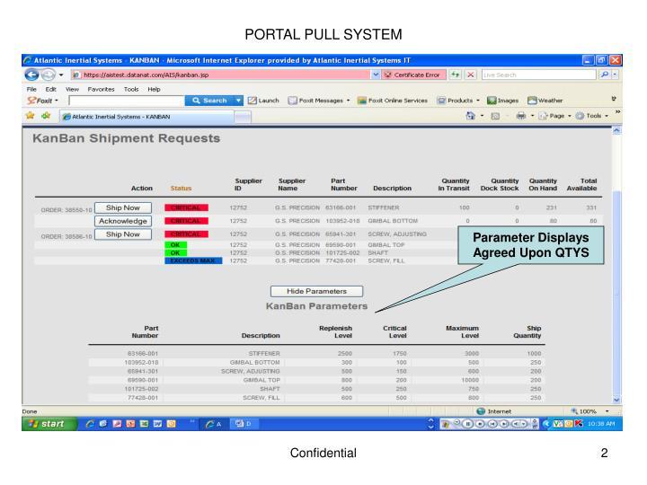 PORTAL PULL SYSTEM