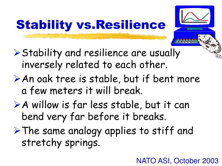 Stability vs.Resilience
