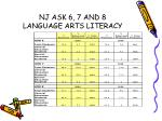nj ask 6 7 and 8 language arts literacy