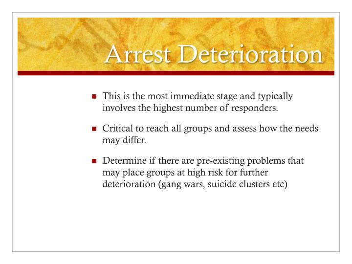 Arrest Deterioration