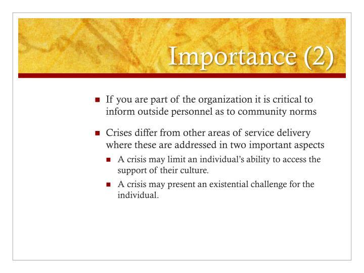 Importance (2)