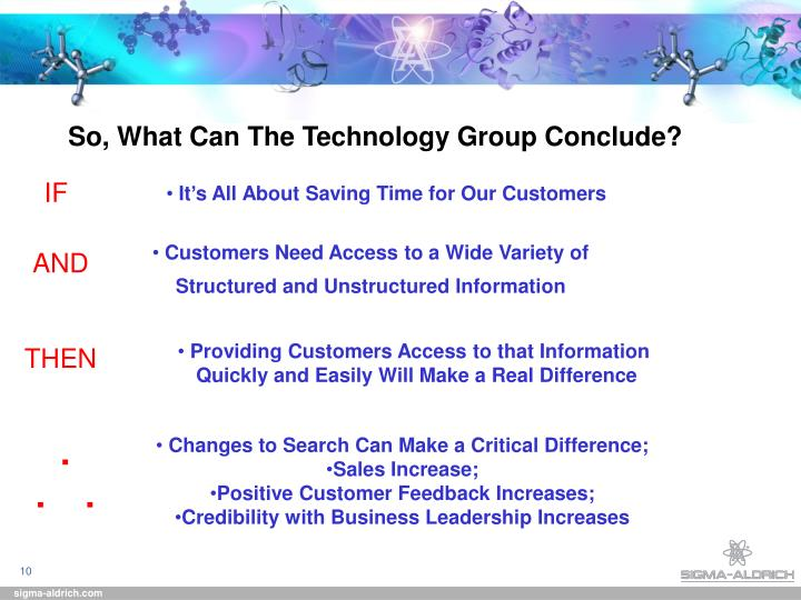 So, What Can The Technology Group Conclude?