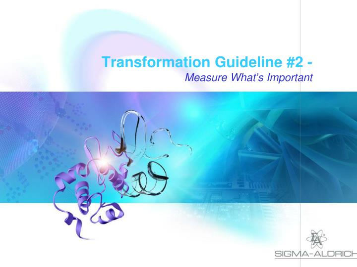 Transformation Guideline #2 -