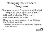 managing your federal programs3