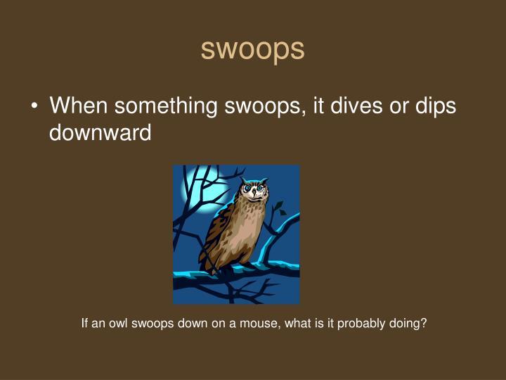 swoops