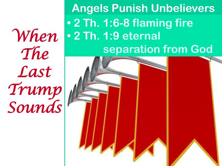 Angels Punish Unbelievers