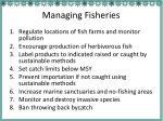 managing fisheries