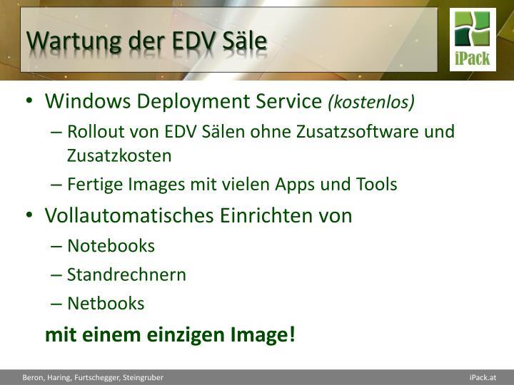 Wartung der EDV Säle