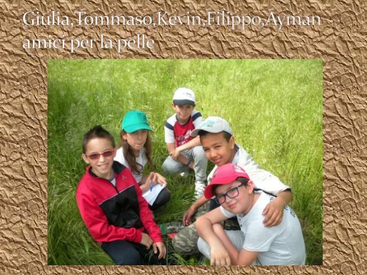 Giulia,Tommaso,Kevin,Filippo,