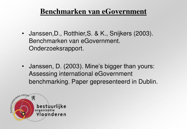 Benchmarken van egovernment1