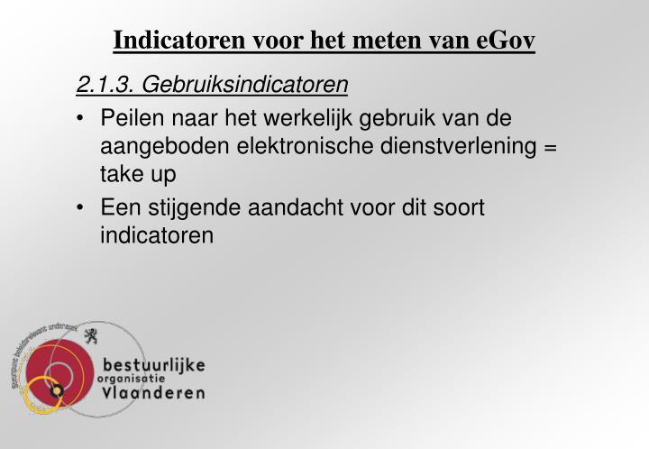 Indicatoren voor het meten van eGov