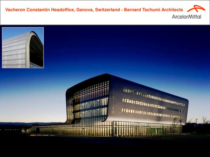Vacheron Constantin Headoffice, Genova, Switzerland - Bernard Tschumi Architecte