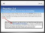 practice 2 4 changing editing text basic formatting