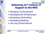 delivering 21 st century it support to the nhs