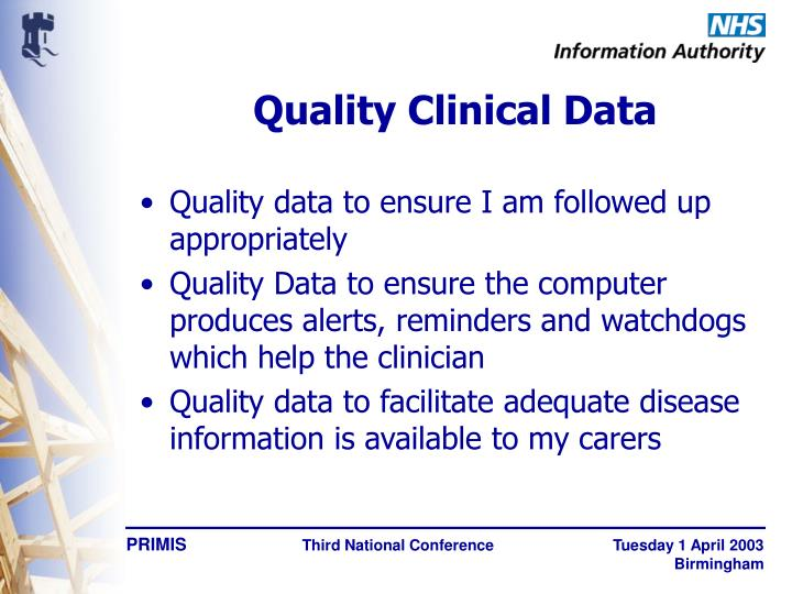 Quality Clinical Data