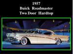 1957 buick roadmaster two door hardtop